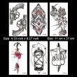 Kotbs 6 Sheets Temporary Tattoos for Women Men Sexy Body Art Arm Flash Tattoo Stickers Waterproof Fake Henna Painless Sticker