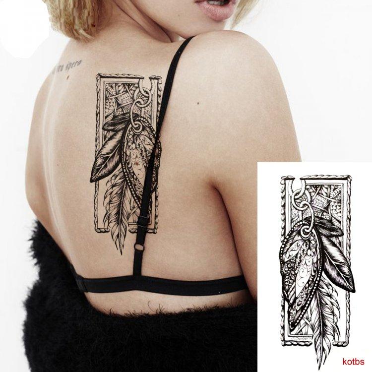 Kotbs 6 Sheets Sexy Temporary Tattoo Body Art 3d Fox Owl