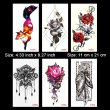 Kotbs 6 Sheets Sexy Temporary Tattoo Body Art 3d Fox Owl Flower Tattoo Sticker for Women Girl Fake Tattoos Painless Stickers