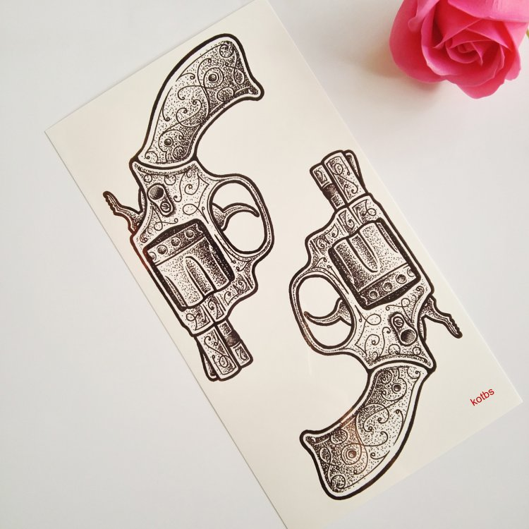 6 Sheets Wrist Body Art Henna Tattoo Stencil Flower: Kotbs 6 Sheets Temporary Tattoos For Women Men Sexy Body