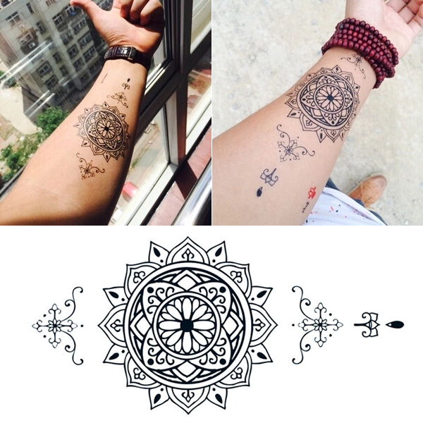 Sanskrit Mantra Words Temporary Tattoos Body Art Tattoo Sticker Fake Tattoo
